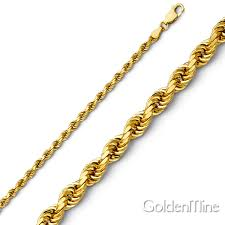 chain rope necklace images 2 5mm 14k yellow gold diamond cut rope chain necklace heavy 18 jpg