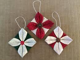 corners of my folded fabric ornament