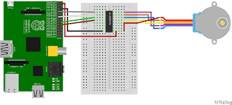 raspberry pi stepper motor control with l293d uln2003a