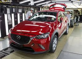 mazda car line first ever mazda cx 3 production line in japan youtube