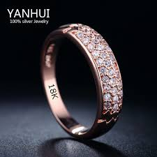 aliexpress buy anniversary 18k white gold filled 4 yanhui jewelry rings original 18krgp st gold filled ring