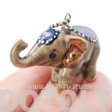 porcelain elephant decorative elephant porcelain ceramic handmade animal pendant