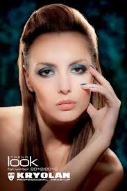 blue aura is the name of the gorgeous fall winter look by award winning american make up artist kevin james bennett for kryolan in this uping season