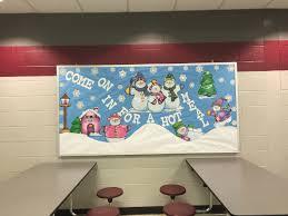 cafeteria bulletin board winter scene allgood elementary dallas
