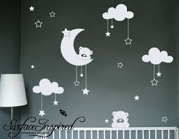 Nursery Wall Decal Nursery Wall Decals Cuddly Bears Vinyl Wall Decal Surface