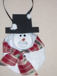 recycled crushed can ornament snowman craft projects