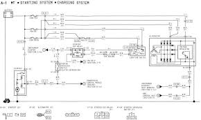 1994 mazda rx 7 starting system and charging system wiring diagram