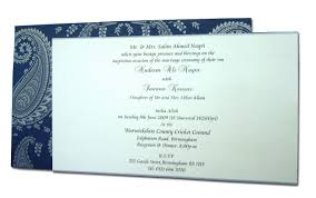 Birth Ceremony Invitation Card Hw054 Navy Blue And Silver Paisley Indian Invitations Navy Blue
