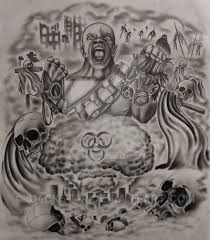 apocalyptic half sleeve design com by 814ck5t4r on deviantart