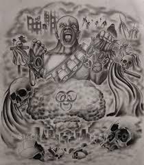 apocalyptic half sleeve tattoo design com by 814ck5t4r on deviantart