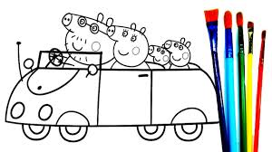 peppa pig family coloring pages peppa pig coloring book fun