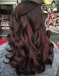 partial red highlights on dark brown hair 60 chocolate brown hair color ideas for brunettes red highlights
