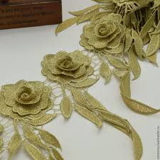 golden roses luxurious lace trim golden roses shop online on livemaster with