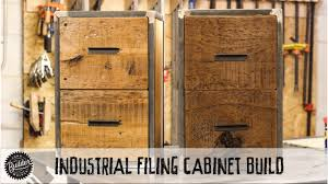 Reclaimed Wood File Cabinet How To Build An Easy Welding Woodworking Industrial Reclaimed