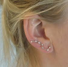 constellation earrings constellation earring pin silver earrings big dipper ear climber