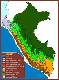 Peru On Map The Eleven Ecoregions Of Peru