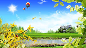 Home Wallpaper Digital Art Of Balloon And Sweet Home Hd Wallpaper Hd Wallpapers