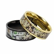his and camo wedding rings titanium his hers real oak camo wedding rings camouflage gear