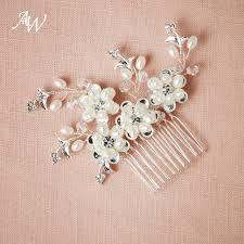 pearl hair comb aw bridal wedding flower rhinestone pearl hair comb pin
