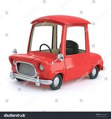 cartoon car 3d render cartoon car red paint stock illustration 199657046