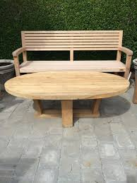 Cool Garden Bench Cool Design Ideas Of Outdoor Teak Furniture With Oval Shape Wooden