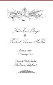 scroll wedding programs katje s wedding cards scroll wedding programs