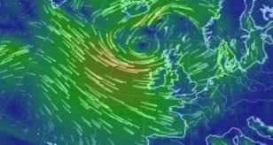 earth wind map warnings issued 130km h gales and snow and