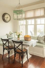 breakfast nook table dining room beach style with built in