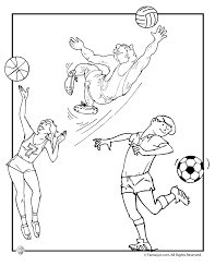 olympic team sports basketball soccer volleyball coloring