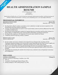 Example Of Healthcare Resume by Download Health Administration Sample Resume