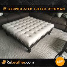 Reupholster Leather Ottoman Leather Upholstery Experts Re Upholstery Replace And Recover