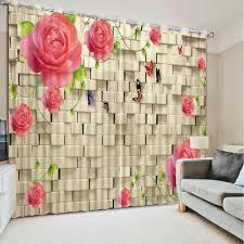 aliexpress com buy home decor curtain blackout brick curtains
