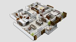 3 Bed House Floor Plan Design Of Three Room Apartment Decidi Info