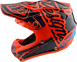 orange motocross helmet 2018 troy lee designs youth se4 polyacrylite factory helmet
