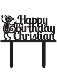 cake topper personalize cake topper monkey birthday cake topper