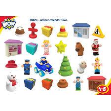 christmas advent calendar wow town christmas advent calendar 24 pc play set educational