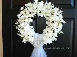 wedding wreath wedding wreath summer wreath front door wreaths outdoors white
