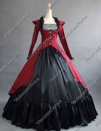 Victorian Halloween Costumes Women Victorian Edwardian Gothic Dress Steampunk Vampire Women Halloween