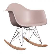 charles ray eames style rar rocking chair light grey