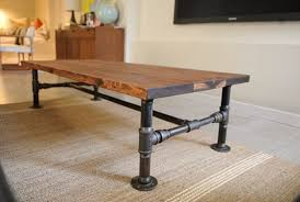 Rustic Industrial Coffee Table Rustic Industrial Coffee Table Ottoman Regarding Tables Decor 9