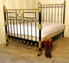 Brass Double Bed Frame Victorian Brass And Iron Double Bed Mother Of Pearl Inlay