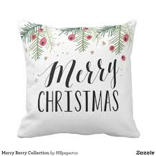merry berry collection throw pillow festive christmas pillow to