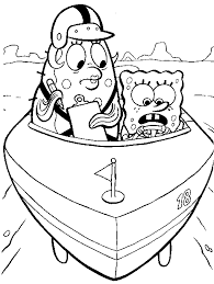 coloring pages for kids spongebob and mrs puff cartoon coloring