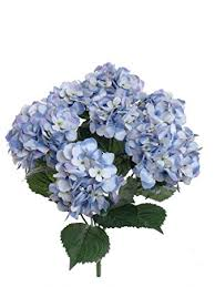 silk hydrangea 1 artificial silk 22 blue hydrangea bush w 7 mop