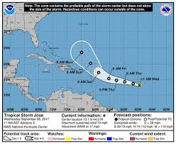 national weather forecast map hurricane jose path update track weather models