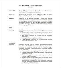 resume job responsibilities examples