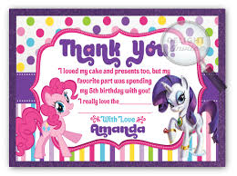 my little pony thank you cards di 651ty ministry greetings