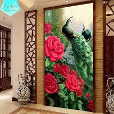 Silk Peacock Home Decor Online Get Cheap Peacock Color Aliexpress Com Alibaba Group