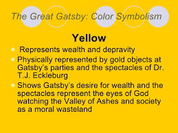 four symbols in the great gatsby smith powerpoint