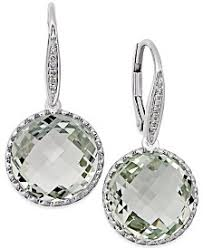 green amethyst earrings green amethyst earrings macy s